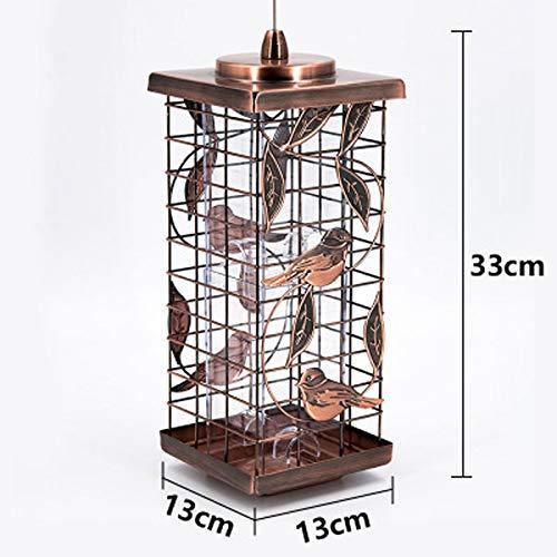 JXXDDQ Mangeoire à Oiseaux en Plein air Ustensiles de Cuisine Villa École Jardin pittoresque Balcon Fournitures pour Oiseaux (Color : Bronze)