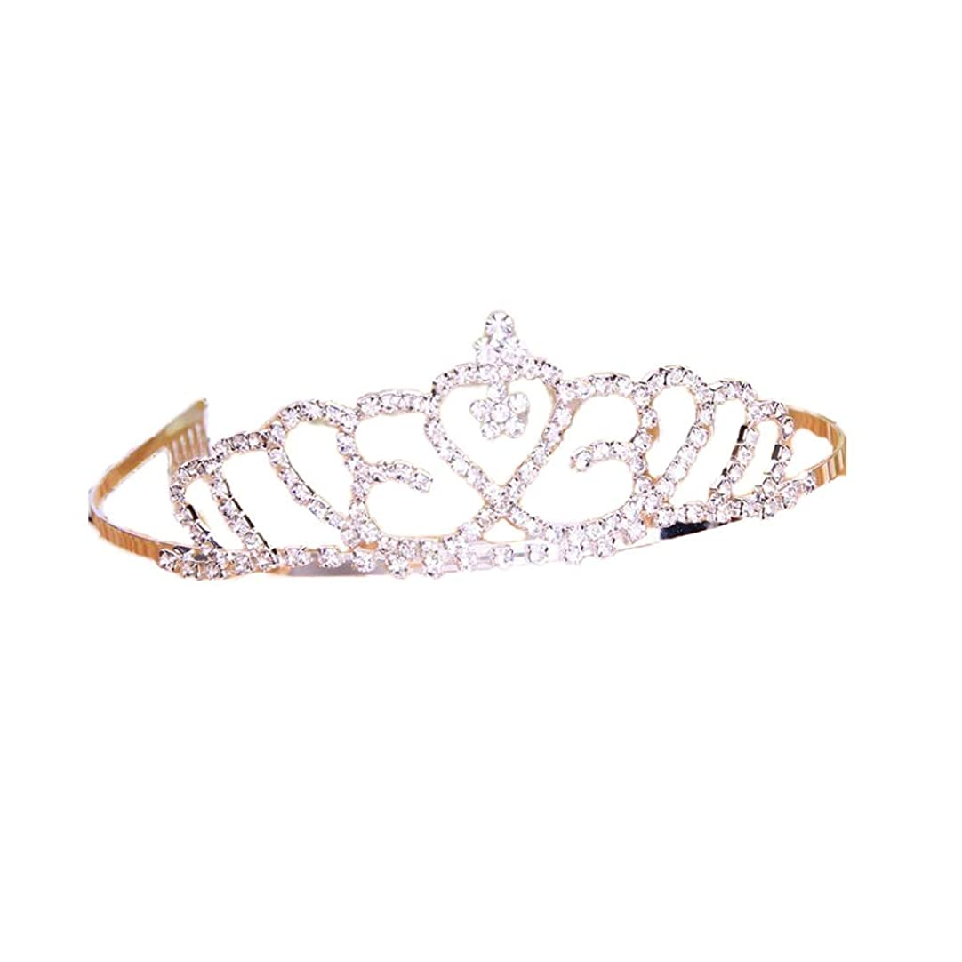 縫う行方不明絡まるクラウンヘッドバンドの花嫁の結婚式の宝石類のヘッドドレスドレスアクセサリー (色 : A)