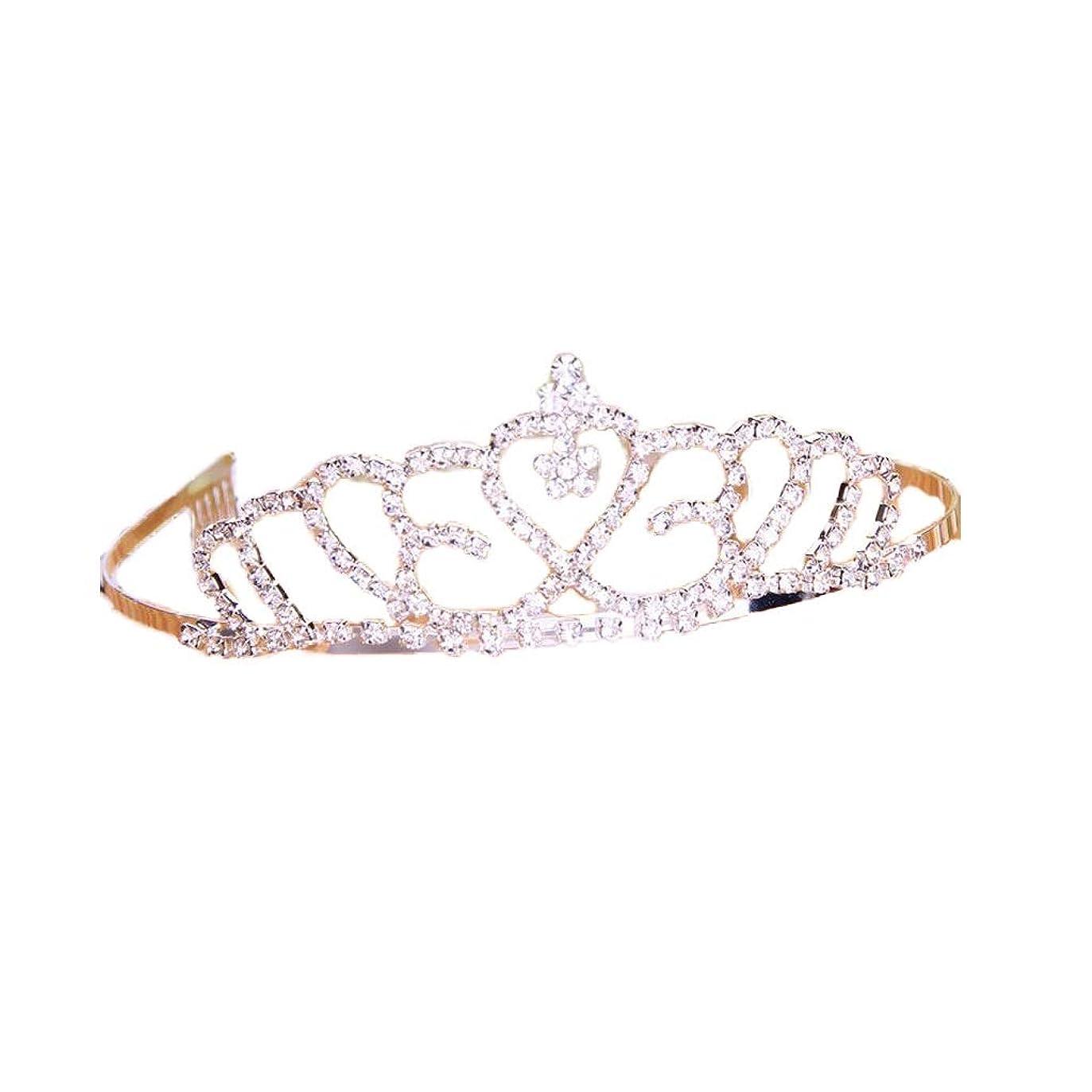 控えめなリーン入場クラウンヘッドバンドの花嫁の結婚式の宝石類のヘッドドレスドレスアクセサリー (色 : A)