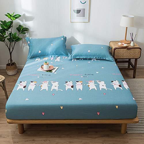 CYYyang Protector de colchón - cubrecolchón Transpirable La sábana de algodón a Prueba de Polvo-8_150cm × 200cm