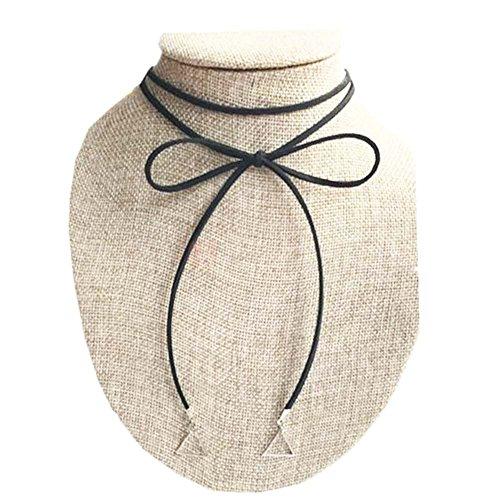Belle Collier Cordon Spécial Nouvelle Mode Collier Noir
