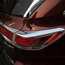 ZiWen Sport Style Chrome Taillight Rear Light Moulding Trim Eyelid for Toyota Highlander 2014 2015 2016 (Taillight Trim)