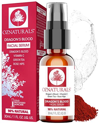 OZNaturals Dragons Blood Serum for Face: Dragons Blood Facial Serum with Vitamin C - Face Tightening and Lifting Serum to Aid Collagen Production and Reduce Wrinkles, Fine Lines, Dark Spots - 1 Fl Oz