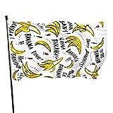 N/A Garten Flagge,Willkommensflagge,Verrückte Bananen Home Flag Large 3X5Ft Vertikale Hausdekoration Im Freien Hof Feier Prozession Festival Banner