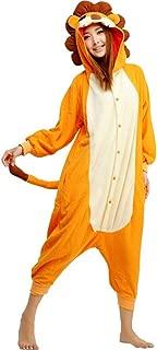 Animal Cosplay Costume Lion Unisex Adult Pajamas