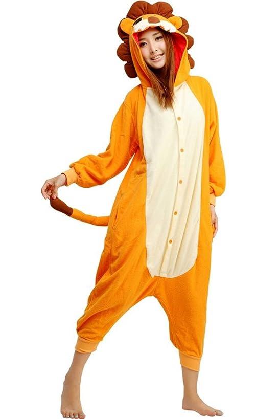 WOTOGOLD Animal Cosplay Costume Lion Unisex Adult Pajamas