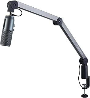 THRONMAX S1-U Caster Adjustable Microphone Boom Arm Stand, for Broadcasting Studio, Youtubers, and TV Stations (Built in 1...