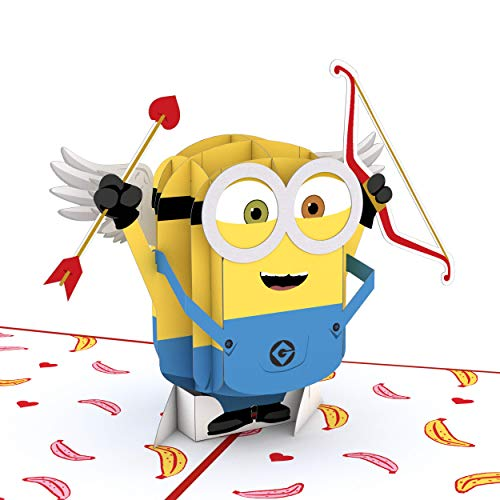 Lovepop Despicable Me Minions Bananas for You Pop Up Card - 3D Card, Valentine's Day Card, Greeting Card, Pop Up Valentines Day Card