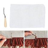 Kit de lona de malla de plástico transparente Malla DIY Alfombra de lona Fabricación de alfombras de tela Alfombra de lona esh Hojas de tejer para manualidades de bordado(50x50cm)