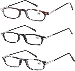 Qi Song Lightweight Retro Rectangular Frame Reading Glasses Unisex Quality Readers +1.0+1.5+2.0+2.5+3.0+3.5