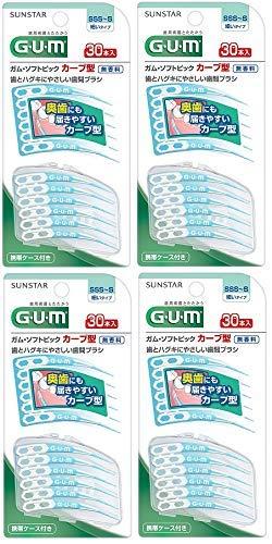【まとめ買い】サンスター ガム・ソフトピック カーブ型 サイズSSS〜S 30本入×4個