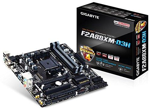 Gigabyte GA-F2A88XM-D3H Mainboard Sockel FM2+ (Micro-ATX, AMD A88X, 4X DDR3-Speicher, 8X SATA III, HDMI, DVI-D, 2X USB 3.0)