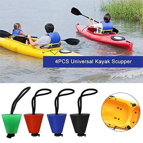 Lifesongs 4 Stück Universal Kayak Scupper Plug Set, Wasserablauf Plug Kit Stöpsel Passt Für Für Alle Großen Marken