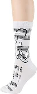 Foot Traffic, Women's Music-Themed Socks, Fits Women's Shoe Sizes 4-10