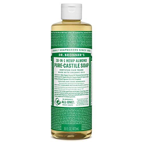 Dr Bronner Castile Soap Organic Almond 16 oz (Multi-Pack)
