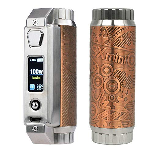 SXMini SL Class MOD 100 W, Yihi e-Zigarette - Akkuträger, retro machinery copper