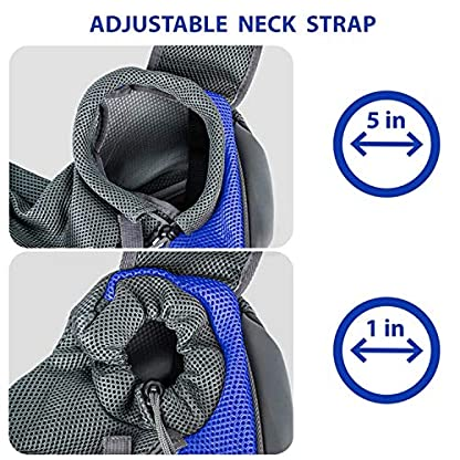 Pet Dog Cat Sling Carrier Bag Puppy Shoulder Carry Bag Hands Free Dog Papoose Carrier with Adjustable Shoulder Strap Pet Travel Carrier Tote Bag with Breathable Mesh Pouch for Outdoor Walking Subway 3