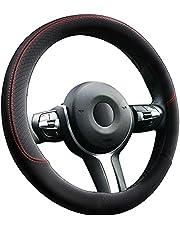 Anpro Auto Stuurhoes Stuurhoes Stuurhoes van leer, 37-39cm, Zwart, Wegwerp