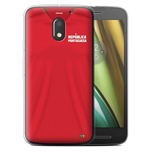 Stuff4 Gel TPU Hülle/Case für Motorola Moto E3 2016 / Portugal/Portugiesisch Muster/Weltmeisterschaft 2018 Fußball Trikot Kollektion
