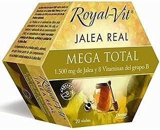comprar comparacion Royal-Vit Jalea Real Mega Total de 20 Viales de 10 ml de Dietisa - Cada Vial Contiene 1500 mg de Jalea Real y 8 Vitaminas ...