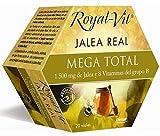 Royal-Vit Jalea Real Mega Total de 20 Viales de 10 ml de Dietisa - Cada Vial Contiene 1500 mg de...