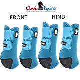 Classic Equine Medium Legacy2 Horse Front Hind Sports Boots 4 Pack Teal