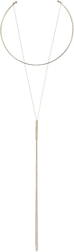 LAUREN Ralph Lauren - Minimal Metal 17 Inches Layered Hard Choker and Y Necklace