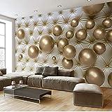 Papel tapiz mural personalizado estilo europeo 3D bola de oro estereoscópica Soft Packfoto papel tapiz sala de estar-400X280CM