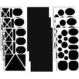 9 Hojas Parches de Reparación de Nylon Parche Negro Autoadhesivo Parche de Ropa de Tela de Diferentes Tamaños y Formas para Chaqueta de Plumas, Ropa de Carpa, Reparar Ropa de Calle y Bolsa