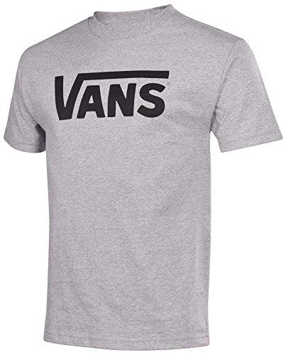 Vans Men's Classic Logo Graphic T-Shirt, Royal Blue Heather/White Logo, Medium