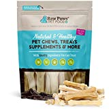 Raw Paws Pet Premium 4-inch Compressed Rawhide Bones for Dogs, 20-Count - Packed in USA - Small Dog Bones - Puppy Bones - Long Lasting Dog Chews - Natural Pressed Rawhides - Beef Hide Bones