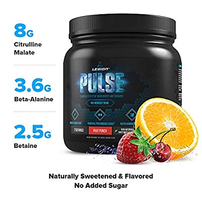 Legion Pulse, Best Natural Pre Workout Supplement for Women and Men - Powerful Nitric Oxide Pre Workout, Effective Pre Workout for Weight Loss. from Legion Athletics