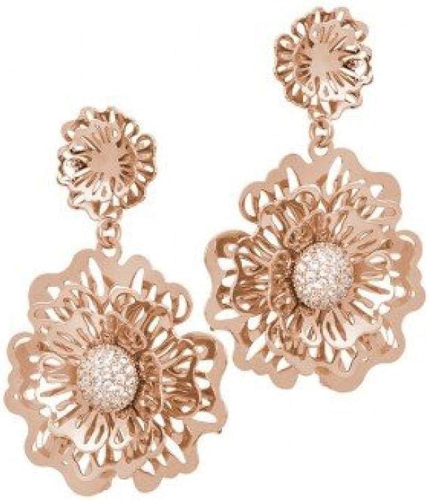 Boccadamo, orecchini per donna , in bronzo placcato oro rosa, Xor432Rs