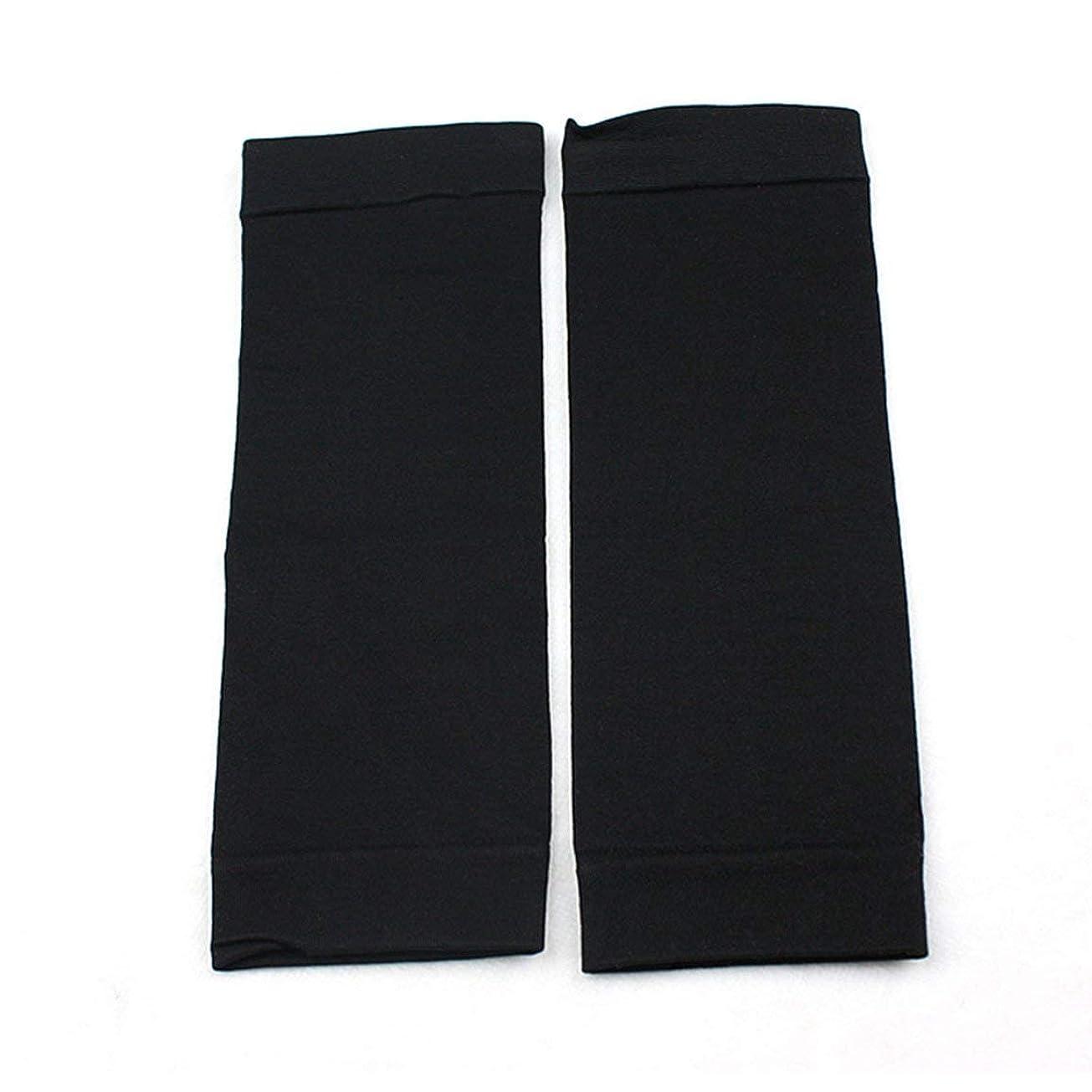 確執ケント振動させる1ペアウエストニッパーT高燃焼脂肪靴下圧縮レギンスレッグウォーマー圧力脂肪薄い脚パンツ燃焼脂肪ガード - ブラック