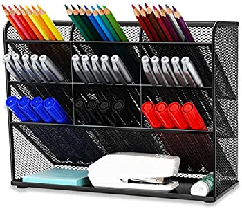 Wellerly 9 Compartments Markers Pen Holder