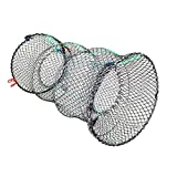 Selotrot Crayfish Crab Trap Net Shrimp Lobster Cage Collapsible Portable Fishing Accessories