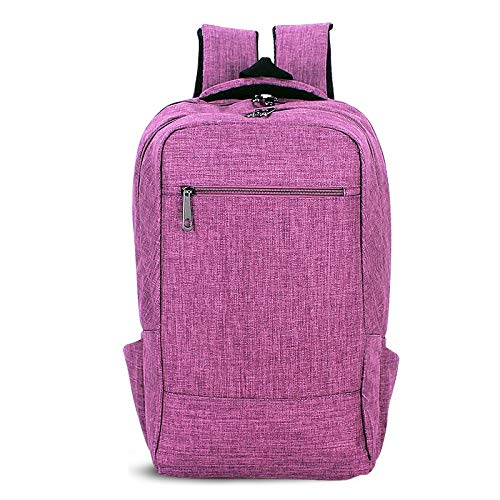 ZZjingli Universal Multi-Function Canvas Cloth Laptop Computer Shoulders Bag Business Backpack Students Bag, Size: 43x28x12cm, For 15.6 inch and Below Macbook, Samsung, Lenovo, Sony, DELL Alienware, C
