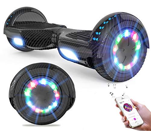 """GeekMe Hoverboards Scooter eléctrico de 6.5"""" Dual Motors 2 Ruedas de Equilibrio automático Scooter Board con Luces LED Bluetooth Modelo"""