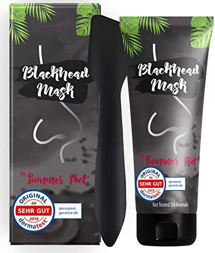 Premium Blackhead Mask für den Mann I Deutsche Anleitung I Große Packung 100 ml + Spatel I Aktivkohle Peel Off Mask gegen Pickel