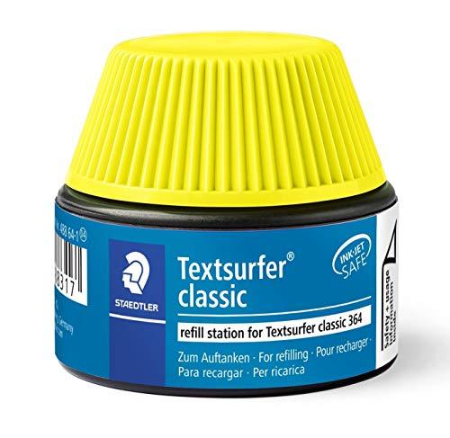 Staedtler 488 64 Textsurfer classic Textmarker Nachfüllstation für 364, 15-20x Nachfüllen, gelb