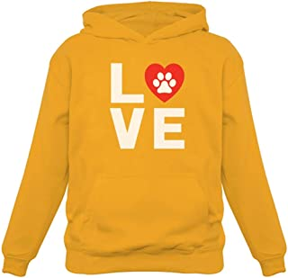 Tstars - Dog Paw Print Love Dogs My Best Friend - Animal Lover Women Hoodie