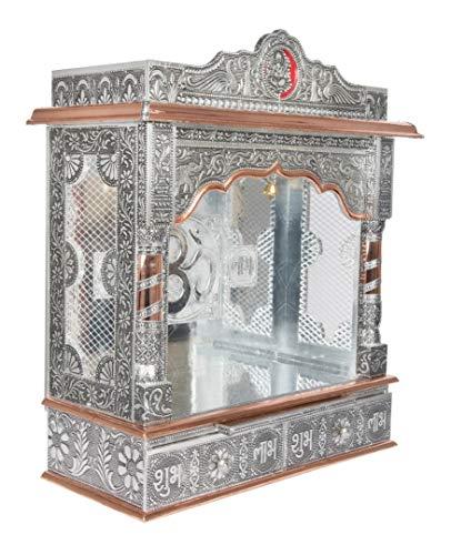 Desi Bazar Indian Hindu Pooja Mandir - Mandap -Temple - Altar for Home Puja in USA - 22 Inches No Doors