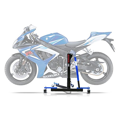 ConStands Power Evo-Zentralständer Kompatibel für Suzuki GSX-R 750 06-07 Blau Motorrad Aufbockständer Montageständer Heber