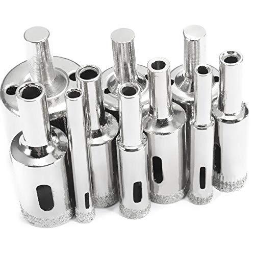 10 Stks Diamant Boor Set 6mm-30mm Diamant Coated Core Gat Boor Bits Gereedschap Snijder voor Glas Marmeren Tegel Graniet Boren