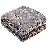 Glow in The Dark Throw Blanket,Super Soft Warm Cozy Fuzzy Plush Butterfly Pattern Blanket for Teens Kids Women Girls Best Friend Birthday