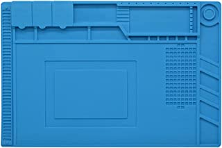 Aideepen Silicone Repair Mat S-160 Silicone Soldering Mat Magnetic Heat Resistant 932°F Welding Pad Repair Work Mat 17.8 x...