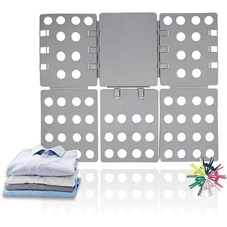 ValueHall Doblador de Ropa 56 x 68 cm Tabla para Doblar Doblador de Camisetas Adjustable Carpeta de Ropa para Adulto o Infantil Camisetas Pantalones ...