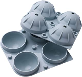 XIYUNTE Plateaux /à gla/çons en silicone cubes de glace Sph/ère flexible 6 boules glac/ées avec 8 grands moules /à gla/çons pour whisky sans BPA va au lave-vaisselle cocktails et bricolage Make Fruits