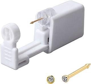 Nose Piercing Kit Nose Piercing Gun Disposable Safe Sterile Piercing Unit For Self Nose Studs Gold Color Piercing Gun Kit ...