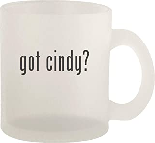 got cindy? - Glass 10oz Frosted Coffee Mug